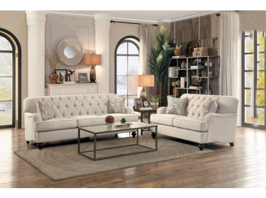 8380-3 Clemencia Collection Sofa Love Seat Living Room Set