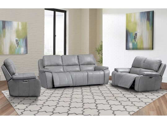 Parker Living Potter Sofa Dual Reclining Power with USB & Power Headrest in Mist