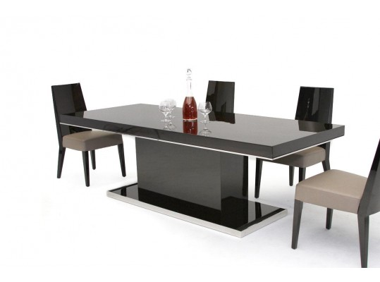 B131T - Modern Ebony Lacquer Dining Table