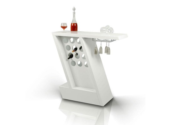 Zin - Modern White Mini-Bar Unit
