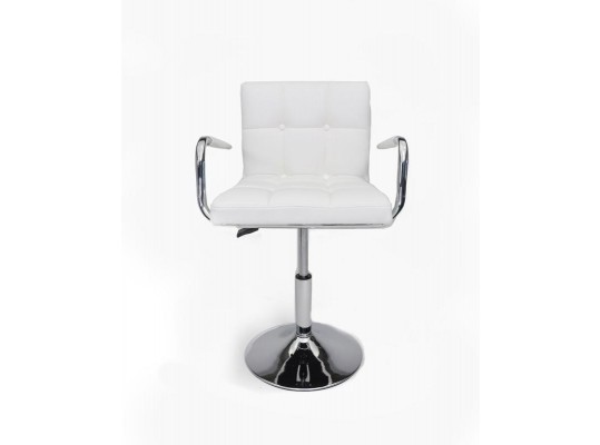 B05 - Modern Eco-Leather White Swivel Chair