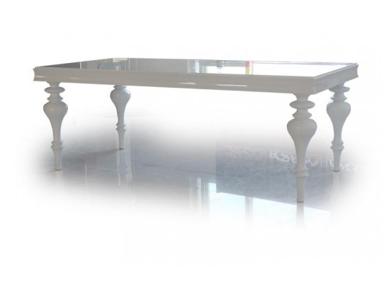 Bella - White Lacquer Dining Table