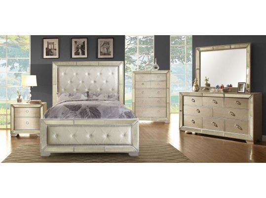 Gorgeous Transitional Style 5 PC Queen Bedroom Set Mod: Loraine