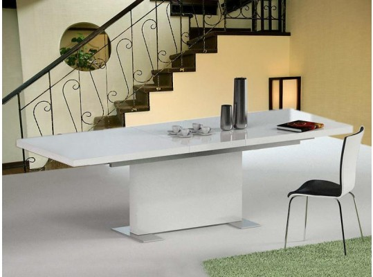"Bono ""T"" - Modern White Dining Table"