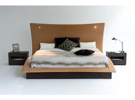 Modern Luxury curve  Bedroom w/ Lights