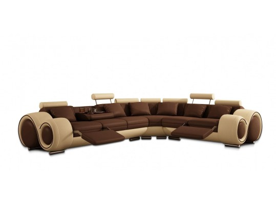 4087 - Sectional Sofa with Recliners with Italian Leather Sectional Sofa