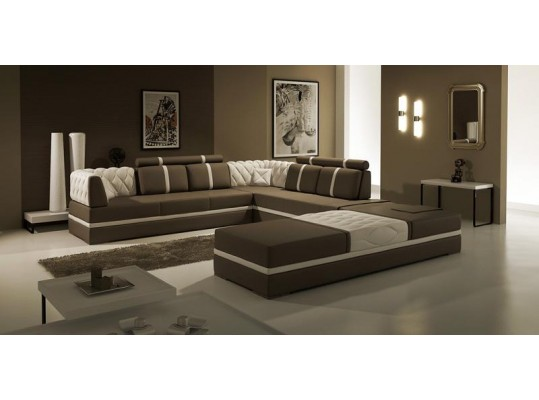 5013B- Modern Bonded Leather Sectional Sofa