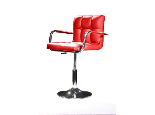 B05 - Modern Eco-Leather Red Swivel Chair