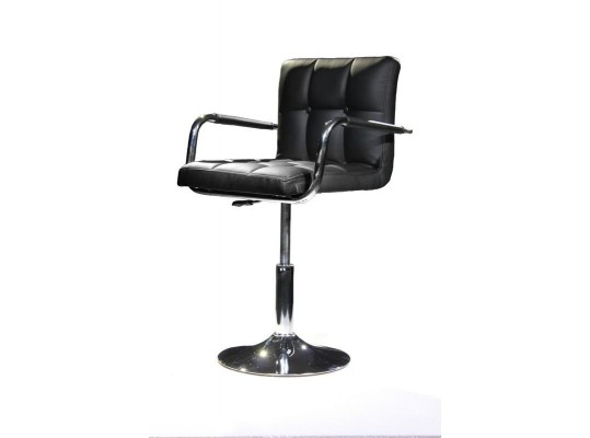 B05 - Modern Eco-Leather Black Swivel Chair