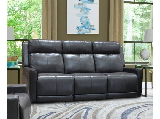 Cabo Flagstaff Top Grain Leather Match Power Reclining Sofa  w/Power Headrest & USB
