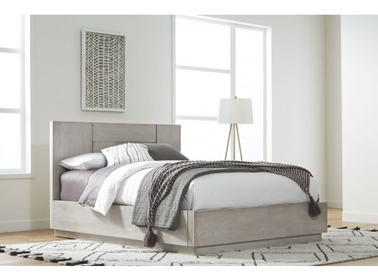Contemporary Destination Queen Bed Cotton Grey