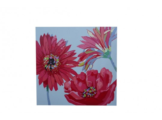 Red Flower painting  Wall Art
