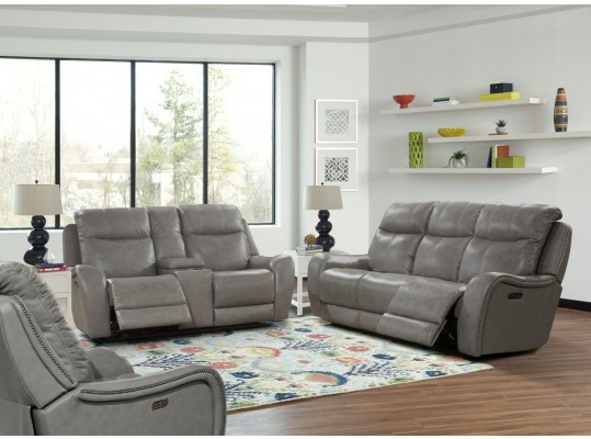 Mammoth Grey Dual Power Reclining Living Room Set by Parker Living