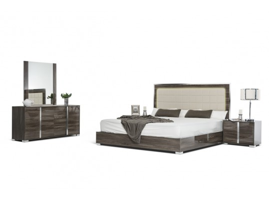 Italian San Marino Modern Grey Bedroom set