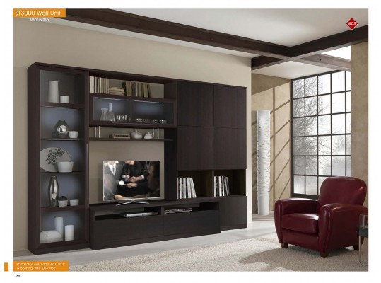 Entertainment Center ST 3000 Wall Unit Wenge