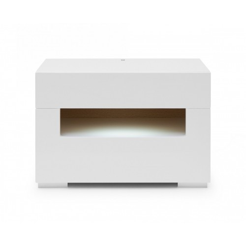 CERES SIDE TABLE WHITE HIGH GLOSS/LED LIGHT