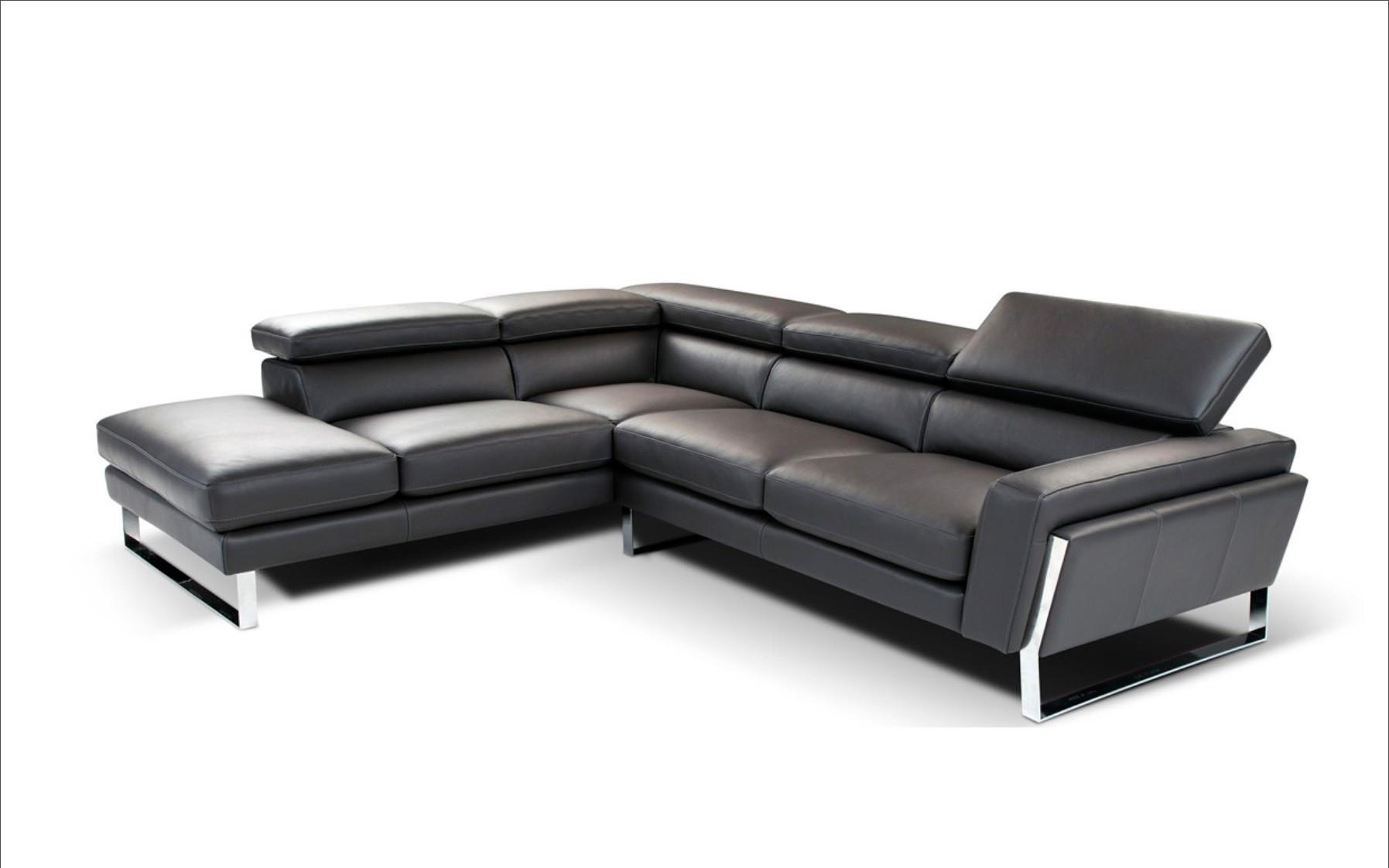 798 Modern Black Sofa Sectional Italian Leather